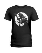 Godzilla Playing Guitar Shirt Ladies T-Shirt thumbnail