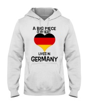 A Big Piece Of My Heart Lives In German Shirt Hooded Sweatshirt thumbnail