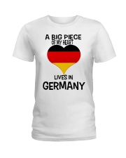 A Big Piece Of My Heart Lives In German Shirt Ladies T-Shirt thumbnail