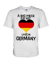 A Big Piece Of My Heart Lives In German Shirt V-Neck T-Shirt thumbnail