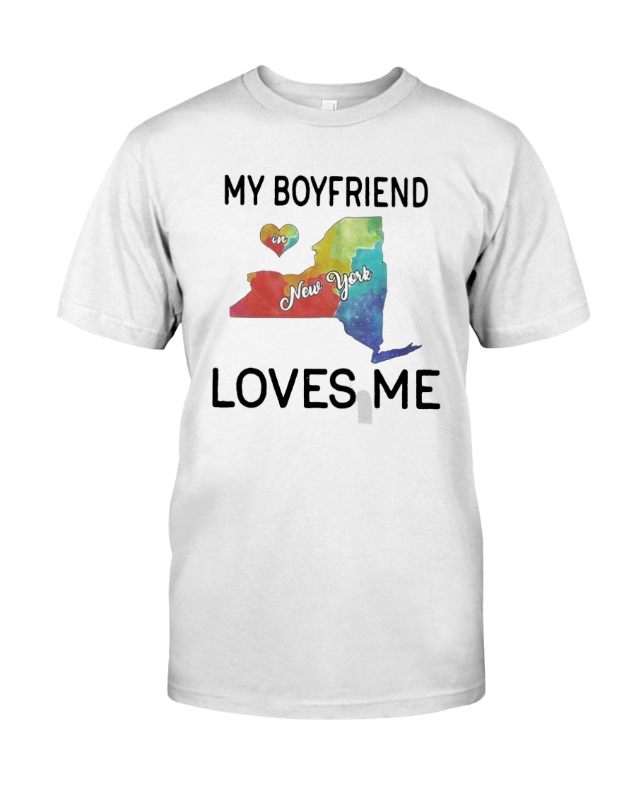 Lgbt My Boyfriend In New York Loves Me Shirt Classic T-Shirt