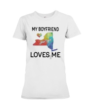Lgbt My Boyfriend In New York Loves Me Shirt Premium Fit Ladies Tee thumbnail