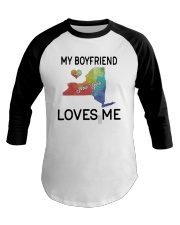 Lgbt My Boyfriend In New York Loves Me Shirt Baseball Tee thumbnail