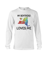 Lgbt My Boyfriend In New York Loves Me Shirt Long Sleeve Tee thumbnail