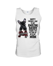 Bulldog Father Day Amazing Daddy Thanks Mom Shirt Unisex Tank tile