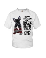 Bulldog Father Day Amazing Daddy Thanks Mom Shirt Youth T-Shirt thumbnail