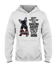 Bulldog Father Day Amazing Daddy Thanks Mom Shirt Hooded Sweatshirt tile