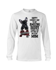 Bulldog Father Day Amazing Daddy Thanks Mom Shirt Long Sleeve Tee thumbnail