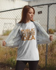 Public Castration Is A Good Idea Shirt Classic T-Shirt apparel-classic-tshirt-lifestyle-07