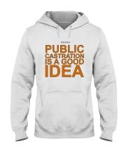 Public Castration Is A Good Idea Shirt Hooded Sweatshirt thumbnail