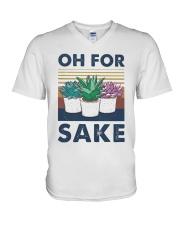 Vintage Cactus Oh For Sake Shirt V-Neck T-Shirt thumbnail