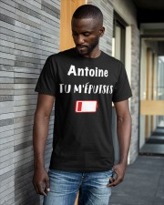 Antoine Tu M'épuises Shirt Classic T-Shirt apparel-classic-tshirt-lifestyle-front-41-b