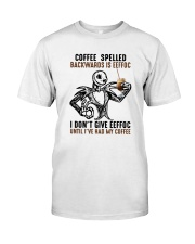 Jack Skellington Coffee Spelled Backwards Is Shirt Classic T-Shirt front