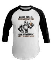 Jack Skellington Coffee Spelled Backwards Is Shirt Baseball Tee thumbnail