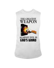 The Greatest Weapon Against Evil Is Gods Shirt Sleeveless Tee thumbnail