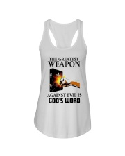 The Greatest Weapon Against Evil Is Gods Shirt Ladies Flowy Tank thumbnail