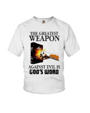 The Greatest Weapon Against Evil Is Gods Shirt Youth T-Shirt thumbnail