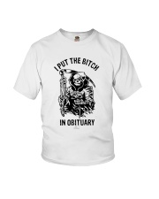 Death I Put The Bitch In Obituary Shirt Youth T-Shirt thumbnail