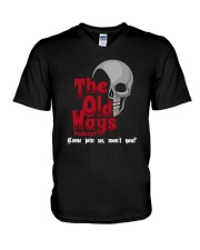 Skull The Old Ways Podcast Come Join Us Shirt V-Neck T-Shirt thumbnail