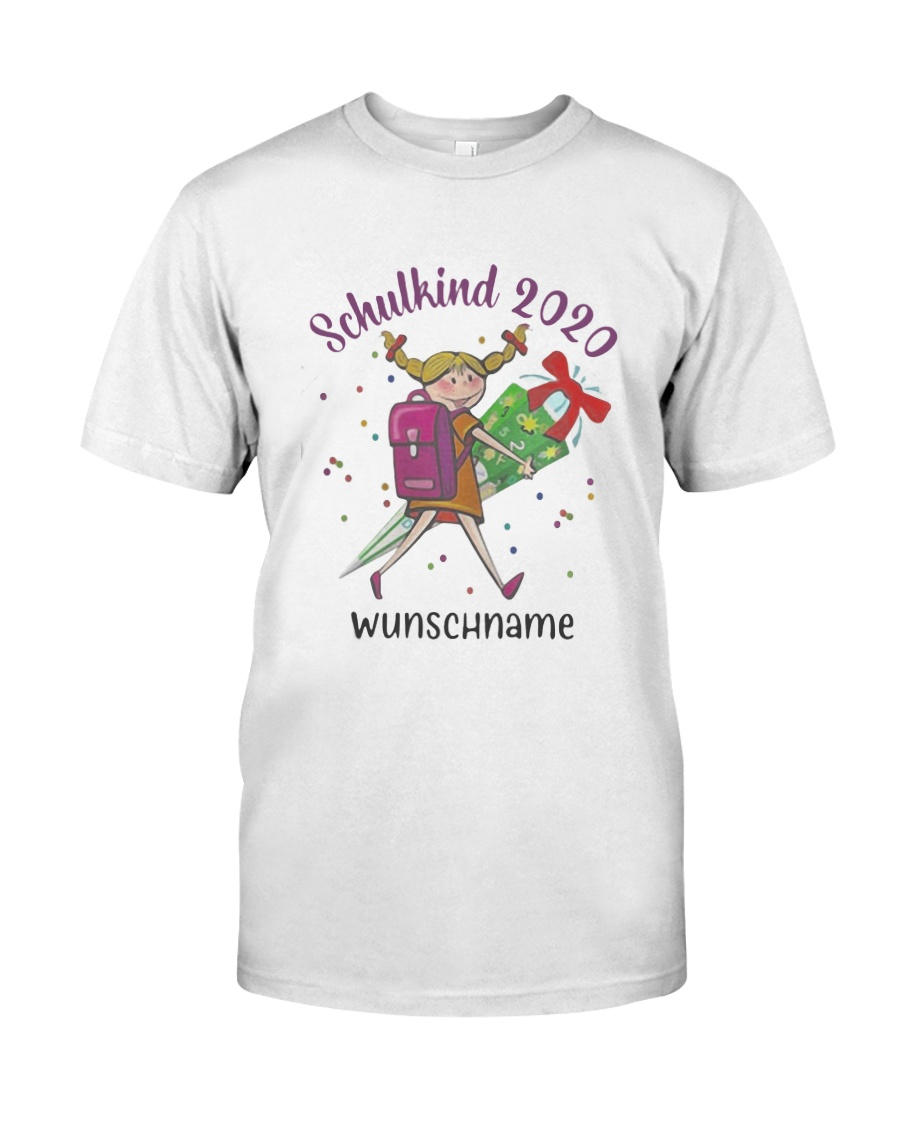 Schulkind 2020 Wunschname Shirt Classic T-Shirt