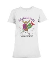 Schulkind 2020 Wunschname Shirt Premium Fit Ladies Tee thumbnail