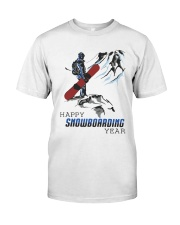 Mountain Happy Snowboarding Year Shirt Premium Fit Mens Tee tile