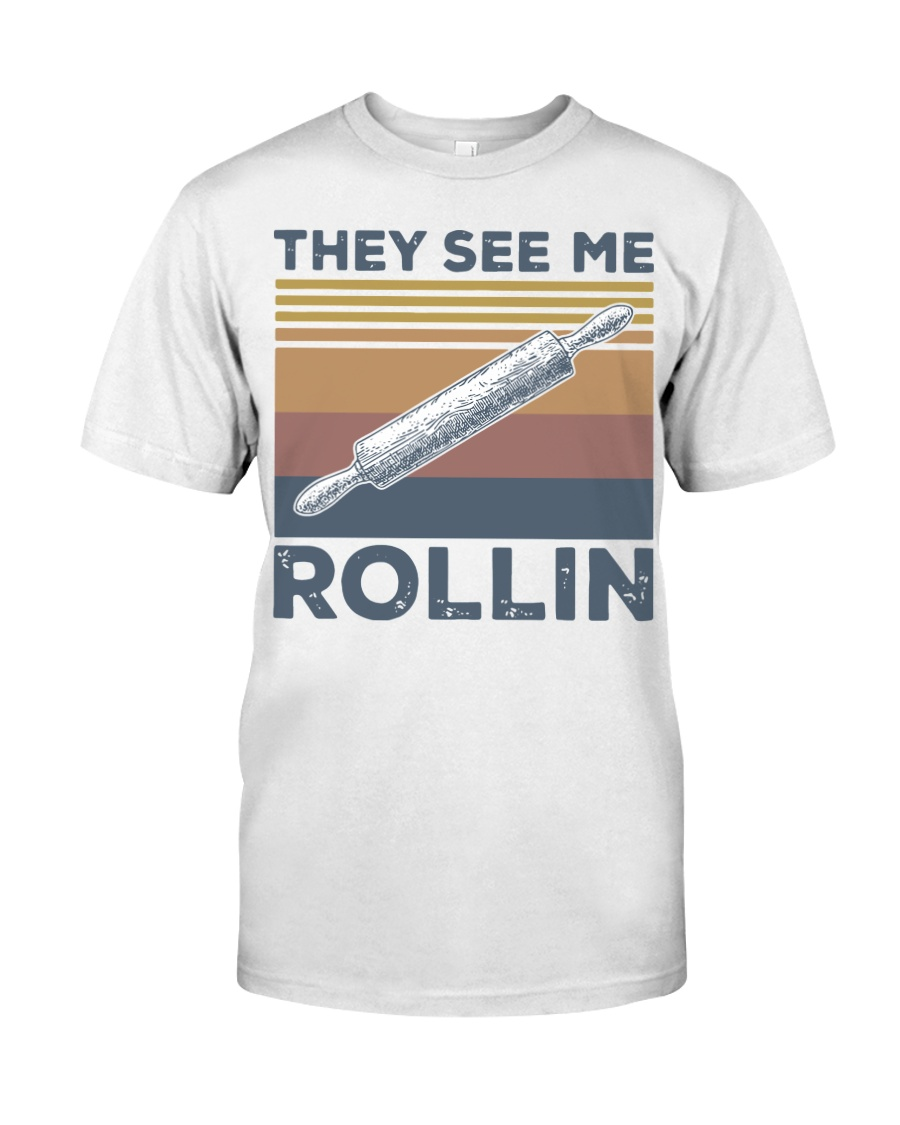 Vintage They See Me Rollin Shirt Classic T-Shirt