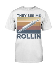 Vintage They See Me Rollin Shirt Classic T-Shirt front