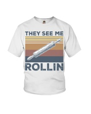 Vintage They See Me Rollin Shirt Youth T-Shirt thumbnail
