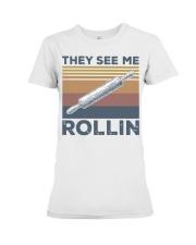 Vintage They See Me Rollin Shirt Premium Fit Ladies Tee thumbnail