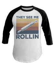 Vintage They See Me Rollin Shirt Baseball Tee thumbnail