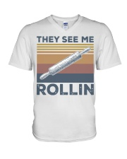 Vintage They See Me Rollin Shirt V-Neck T-Shirt thumbnail