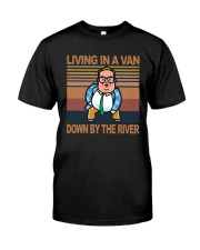 Vintage Living In A Van Down By The River Shirt Premium Fit Mens Tee front