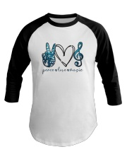 Key Sol Blue Peace Love Music Shirt Baseball Tee thumbnail