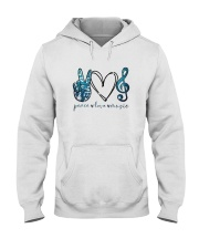 Key Sol Blue Peace Love Music Shirt Hooded Sweatshirt thumbnail