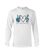 Key Sol Blue Peace Love Music Shirt Long Sleeve Tee thumbnail