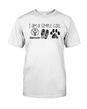 I Am A Simple Girl Like Jagermeister Slipper Shirt Classic T-Shirt front