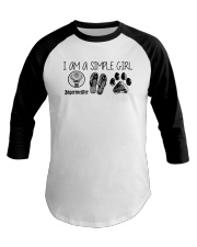 I Am A Simple Girl Like Jagermeister Slipper Shirt Baseball Tee thumbnail