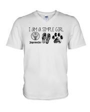 I Am A Simple Girl Like Jagermeister Slipper Shirt V-Neck T-Shirt thumbnail