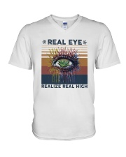 Vintage Weed Real Eye Realize Real High Shirt V-Neck T-Shirt thumbnail