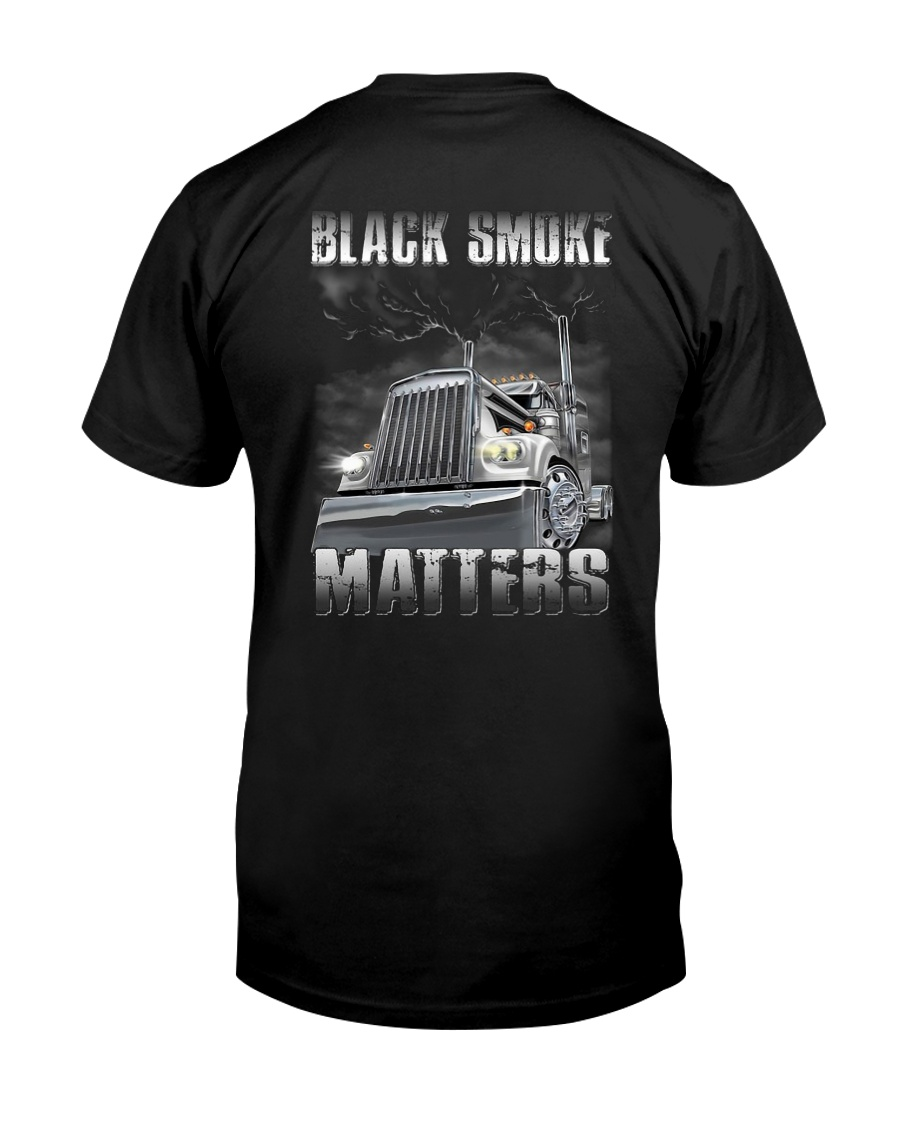 Trucker Black Smoke Matter Shirt Premium Fit Mens Tee