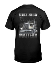 Trucker Black Smoke Matter Shirt Premium Fit Mens Tee back