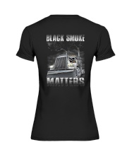 Trucker Black Smoke Matter Shirt Premium Fit Ladies Tee thumbnail