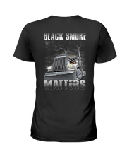 Trucker Black Smoke Matter Shirt Ladies T-Shirt thumbnail
