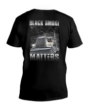 Trucker Black Smoke Matter Shirt V-Neck T-Shirt thumbnail
