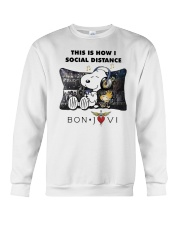 This Is How I Social Distance Bon Jovi Shirt Crewneck Sweatshirt thumbnail