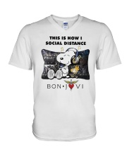 This Is How I Social Distance Bon Jovi Shirt V-Neck T-Shirt thumbnail