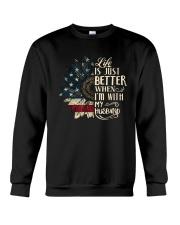 Life Is Just Better When Im With My Husband Shirt Crewneck Sweatshirt thumbnail