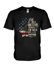 Life Is Just Better When Im With My Husband Shirt V-Neck T-Shirt thumbnail