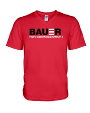 Reds Bauer For Commissioner Shirt V-Neck T-Shirt thumbnail